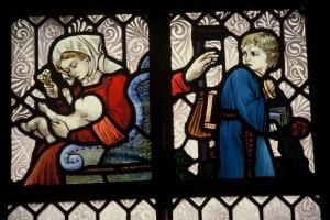 4 Shakespeare windows State Library of NSW. Infant; School Boy. Photo Douglass Baglin.