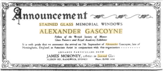 Gascoyne Catholic Press advert 1925