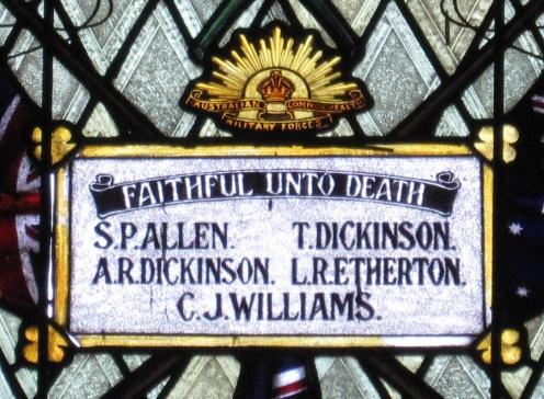 Broughton former Methodist Church War Memorial names detail