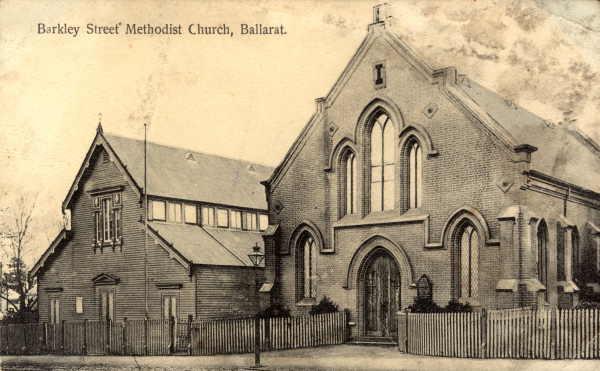 Ballarat Barkly St Methodist church and hall c1910 SLV